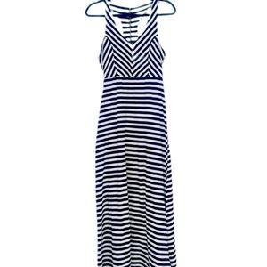 Monteau Striped Razor Back Maxi Dress